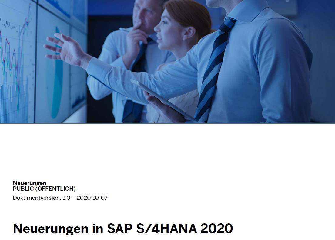 SAP S/4 HANA Release 2020